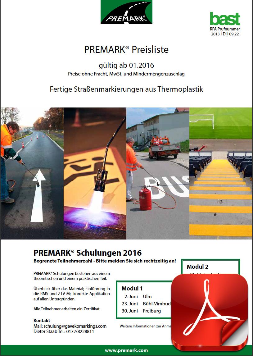 Premark Preisliste 2019