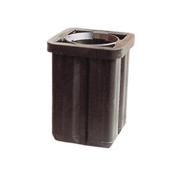 Rohrschuh aus Kunststoff fuer Schaftrohr 42mm