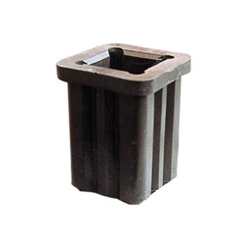Rohrschuh aus Kunststoff fuer Schaftrohr 60mm
