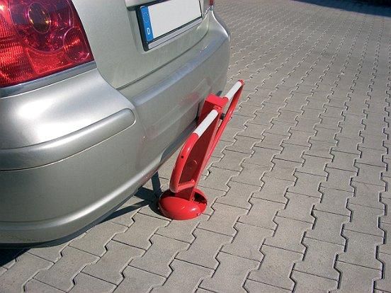 Anfahrsichere Parkplatzsperre umlegbar 70x70 1