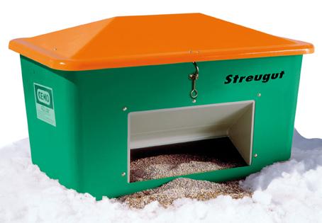 Streugutbox gruen mit Entnahme 400l