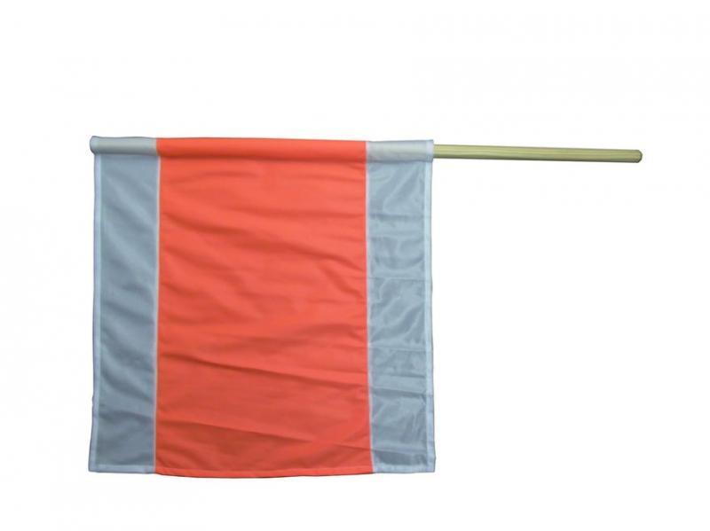 Warnflagge Holzstiel